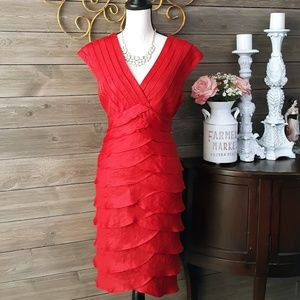 Adrianna Papell Red Special Occasion Dress